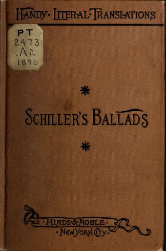 Cover of: Schiller's ballads by Friedrich Schiller
