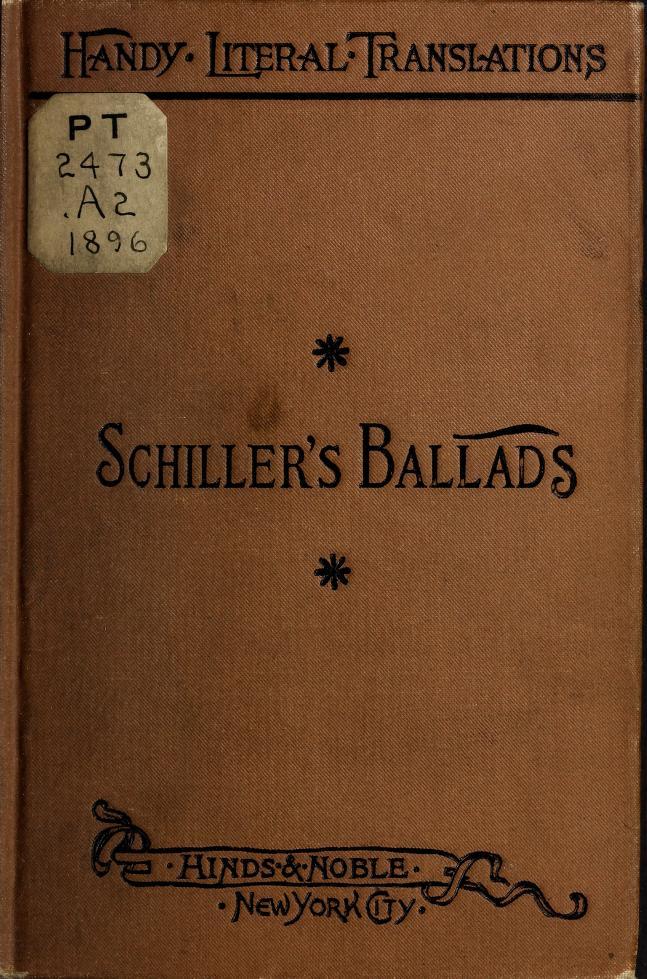 Schiller's ballads by Friedrich Schiller